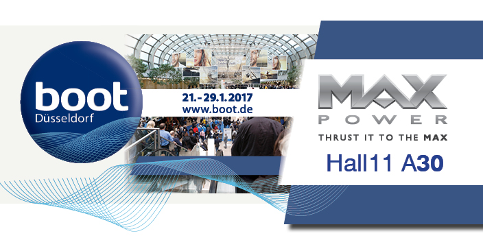 MAX POWER boat thrusters at BOOT 2017 Show in Düsseldorf