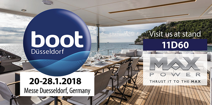 MAX POWER boat thrusters at BOOT 2018 Show in Düsseldorf
