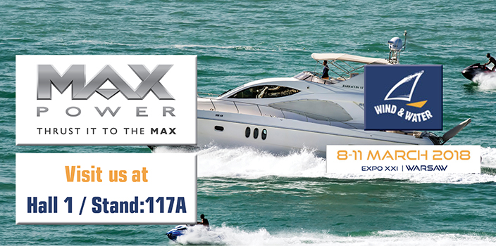 MAX POWER at Wind and Water Boat Show 2018